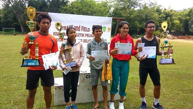 Juara Umum Kejuaraan Atletik pelajar se Kota Tangsel  2019